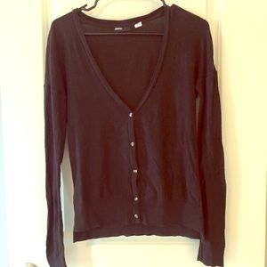 BDG plain black cardigan from urban outfitters